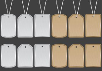 Dog Tag Vectors - vector gratuit #162423