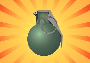 Grenade Illustration - Free vector #162453