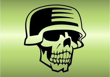 Skull With Helmet - vector gratuit #162483