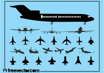 Aircraft Silhouette Set - Free vector #162513