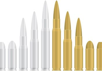 Gold and Silver Bullets - vector gratuit #162523