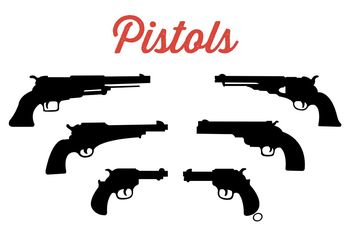 Collection of Pistols - vector gratuit #162533