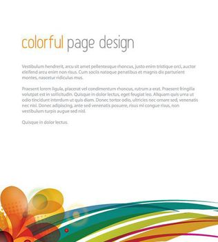 Colorful Swirls Footer Page Template - vector gratuit #162593