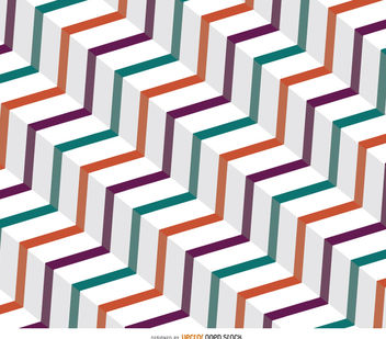 Abstract vintage zig zag background - vector #162633 gratis