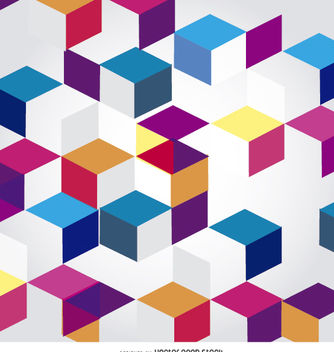 Abstract Cubes polygonal background - Free vector #162653