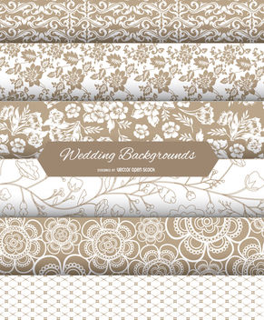 Wedding Backgrounds Set - vector gratuit #162663