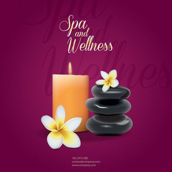 Spa and Beauty Wellness Background - vector gratuit #162673