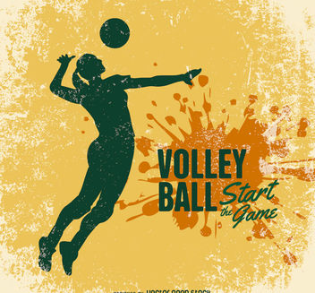 Volleyball grunge design - vector gratuit #162763