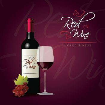 Red Wine Party Poster - Free vector #162853