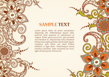 Paisley Decoration Greeting Card - vector gratuit #162863