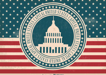 US Capital Label Flag - vector gratuit #162873
