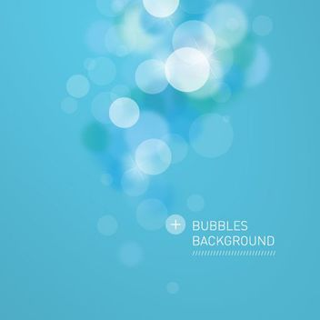 Glowing Bubbles Blue Background - vector gratuit #162883
