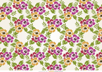 Flowers pattern design - Free vector #162913