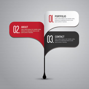 Classy 3 Steps Navigation Infographic - Free vector #162953