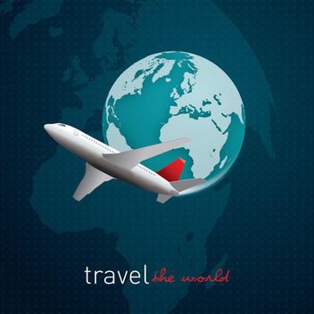 Travel World Grid Background - vector gratuit #163063