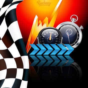 Creative Racing Themed Background - vector gratuit #163113