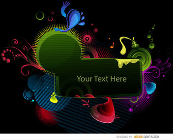 Abstract colorful shapes background - Free vector #163153