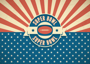 Super Bowl Retro American Background - vector gratuit #163173