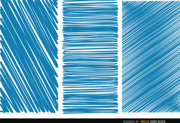 3 Scratch blue textures - Free vector #163203