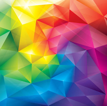 Colorful Crystal Polygonal Background - Free vector #163313