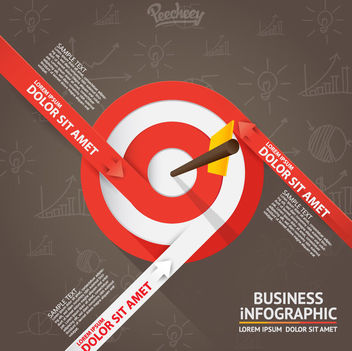 Targeting Dartboard Infographic - vector gratuit #163343
