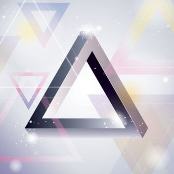 Glossy 3D Triangles Abstract Background - vector gratuit #163373