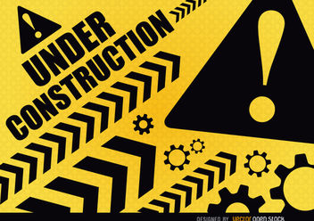 Under construction warning - vector gratuit #163383