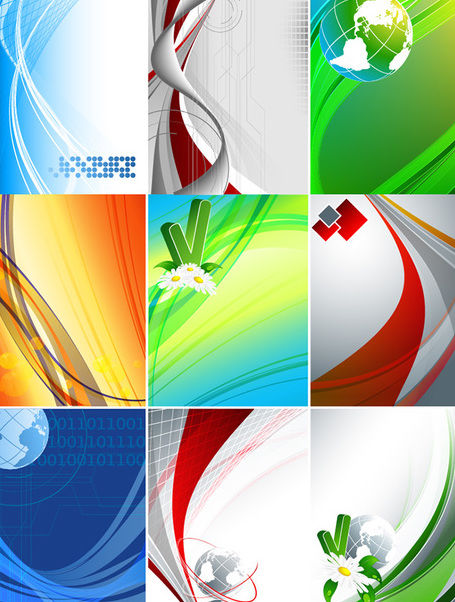 Abstract Business & Nature Background Collection - vector gratuit #163393
