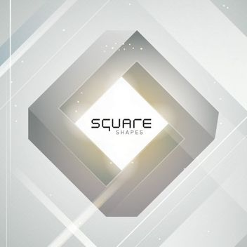 3D Diamond Square Grey Background - Free vector #163403