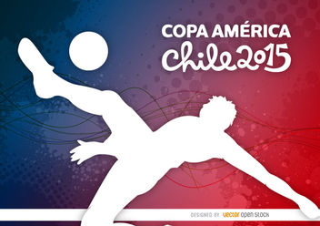 Copa America player kick background - Free vector #163433
