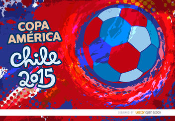 Copa America Chile grunge colors - Free vector #163443