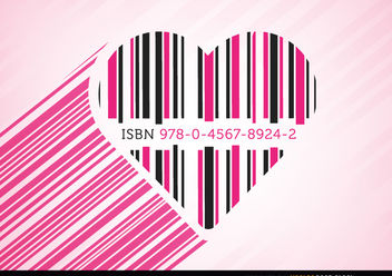 Heart code bars pink - vector gratuit #163483