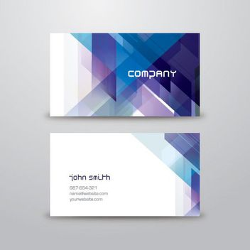 Abstract Triangles Business Card - Free vector #163573