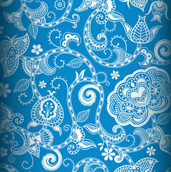 Vintage Decorative Floral Seamless Pattern - vector gratuit #163663