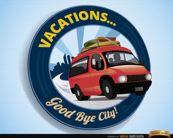 Vacations logo van travel - vector gratuit #163823