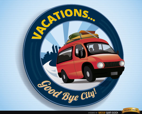 Vacations logo van travel - Free vector #163823