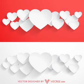 Paper Cutting Valentine Heart Bundles - бесплатный vector #163833