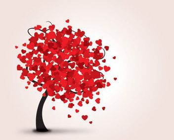 Abstract Hearts Tree - Free vector #163863