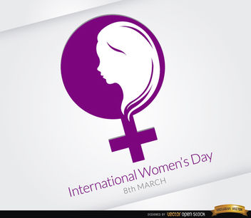 Women's day symbol background - бесплатный vector #163883