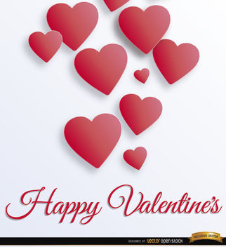 Valentine's floating hearts background - vector gratuit #163933