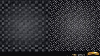 Two metallic texture patterns - vector gratuit #164083