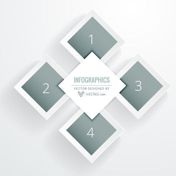 Elegant Diamond Layout Infographic Template - vector gratuit #164103