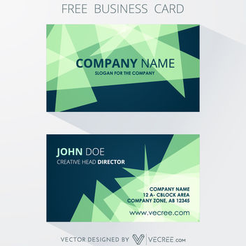 Front Back Abstract Triangles Business Card - vector gratuit #164153