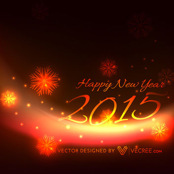 New Year 2015 Glowing Background - vector gratuit #164163