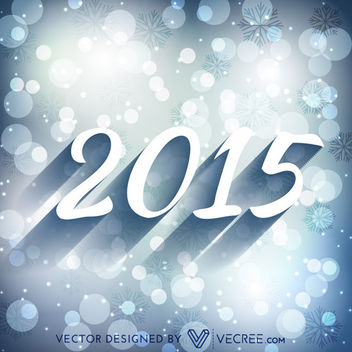 Stylish 2015 Typography on Bluish Bokeh Background - Kostenloses vector #164213
