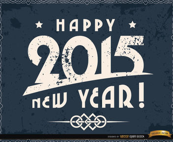 Happy 2015 grunge background - Free vector #164233