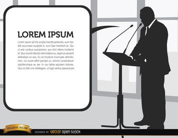 Businessman speech silhouette - Free vector #164253