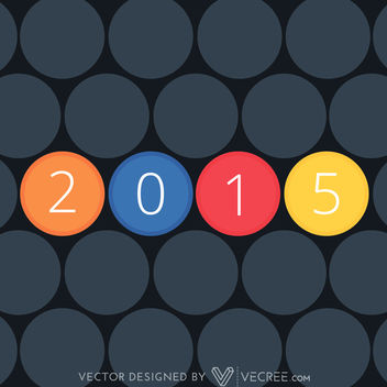 2015 inside Colorful Separate Circles - Kostenloses vector #164313