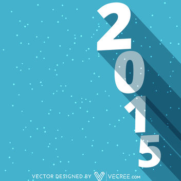 2015 Long Shadowed Vertical Typography - бесплатный vector #164333