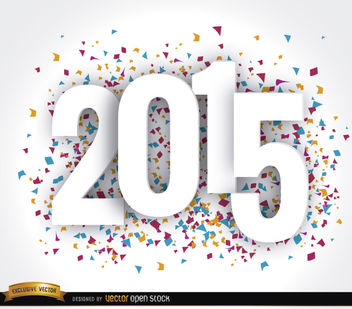 Happy 2015 Year confetti wallpaper - Free vector #164363